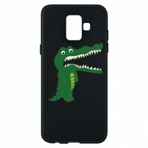 Phone case for Samsung A6 2018 Toothy crocodile - PrintSalon