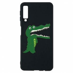 Phone case for Samsung A7 2018 Toothy crocodile - PrintSalon