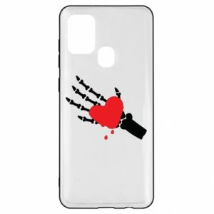 Etui na Samsung A21s Topniejące serce