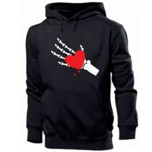 Men's hoodie Melting heart