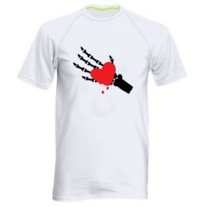 Koszulka sportowa męska Topniejące serce