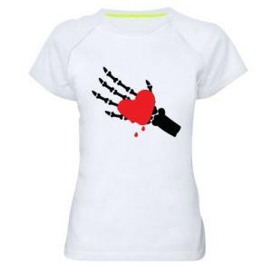Koszulka sportowa damska Topniejące serce