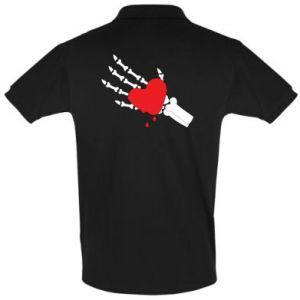 Men's Polo shirt Melting heart