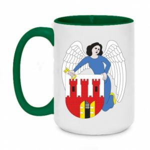Two-toned mug 450ml Torun coat of arms