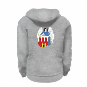 Kid's zipped hoodie % print% Torun coat of arms