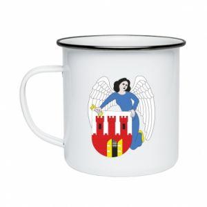 Enameled mug Torun coat of arms