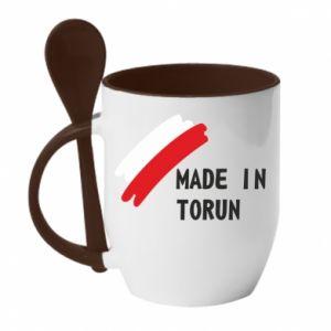 Kubek z ceramiczną łyżeczką Made in Torun