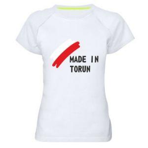 Damska koszulka sportowa Made in Torun