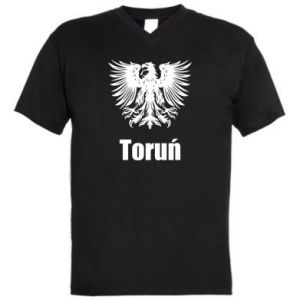 Męska koszulka V-neck Toruń