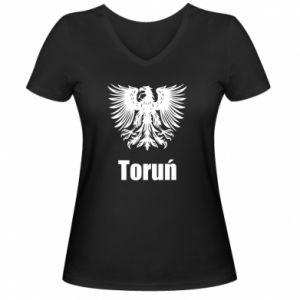 Damska koszulka V-neck Toruń
