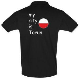 Men's Polo shirt My city is Torun
