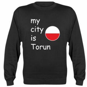 Bluza (raglan) My city is Torun