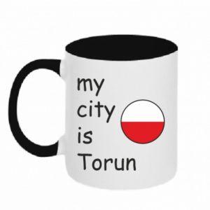 Kubek dwukolorowy My city is Torun
