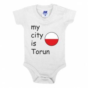 Baby bodysuit My city is Torun