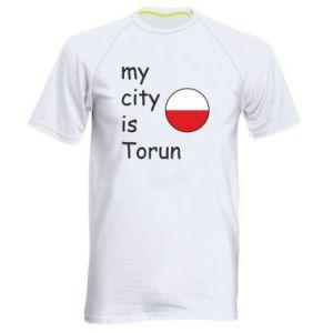 Men's sports t-shirt My city is Torun