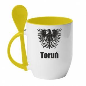 Kubek z ceramiczną łyżeczką Toruń