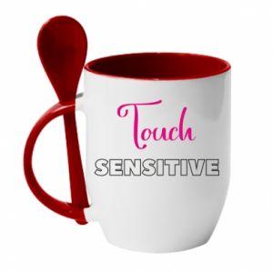 Kubek z ceramiczną łyżeczką Touch sensitive