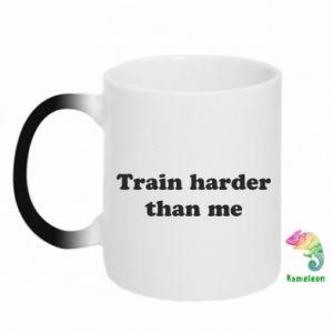 Kubek-kameleon Train harder than me