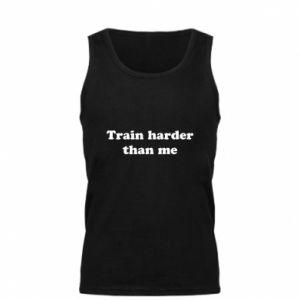 Męska koszulka Train harder than me