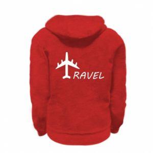 Kid's zipped hoodie % print% Travel