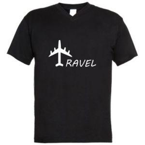 Men's V-neck t-shirt Travel