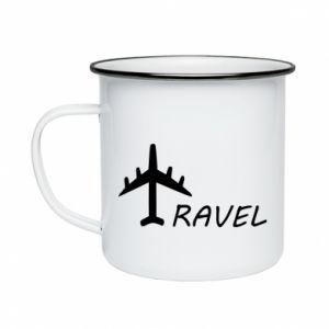Enameled mug Travel