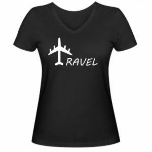 Women's V-neck t-shirt Travel