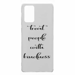 Etui na Samsung Note 20 Treat people with kindness
