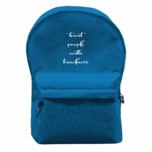 Plecak z przednią kieszenią Treat people with kindness