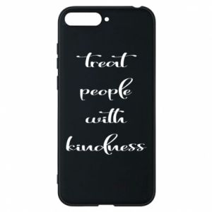 Etui na Huawei Y6 2018 Treat people with kindness
