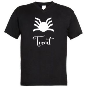 Men's V-neck t-shirt Treat - PrintSalon