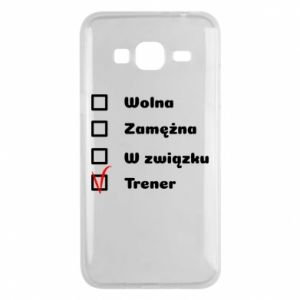 Phone case for Samsung J3 2016 Trainer, woman