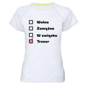 Koszulka sportowa damska Trener, kobieta
