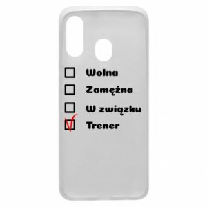 Phone case for Samsung A40 Trainer, woman - PrintSalon