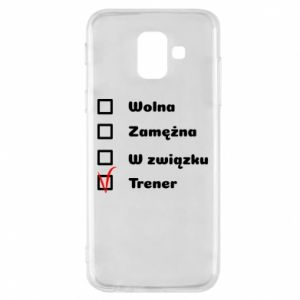 Phone case for Samsung A6 2018 Trainer, woman - PrintSalon