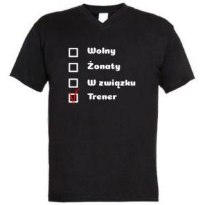 Męska koszulka V-neck Trener