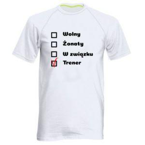Męska koszulka sportowa Trener