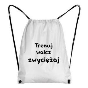 Plecak-worek Trenuj, walcz, zwyciężaj