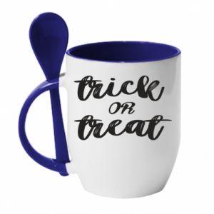 Kubek z ceramiczną łyżeczką Trick or treat