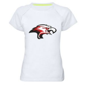 Damska koszulka sportowa Orzeł trójkolorowy