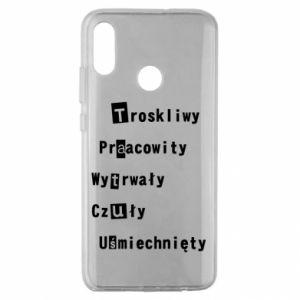 Etui na Huawei Honor 10 Lite Troskliwy, Praacowity
