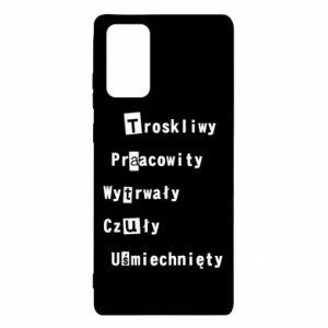 Etui na Samsung Note 20 Troskliwy, Praacowity