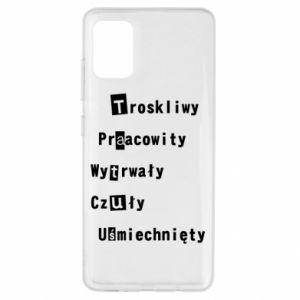 Etui na Samsung A51 Troskliwy, Praacowity