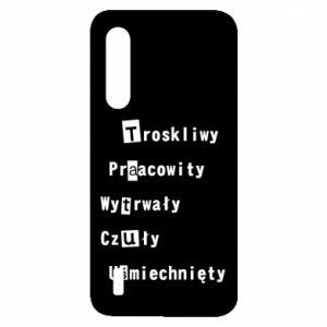 Etui na Xiaomi Mi9 Lite Troskliwy, Praacowity
