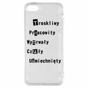 Etui na iPhone 5/5S/SE Troskliwy, Praacowity