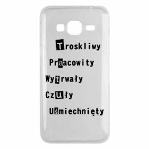 Etui na Samsung J3 2016 Troskliwy, Praacowity