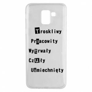 Etui na Samsung J6 Troskliwy, Praacowity