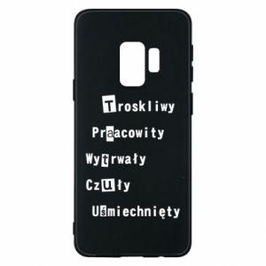 Etui na Samsung S9 Troskliwy, Praacowity