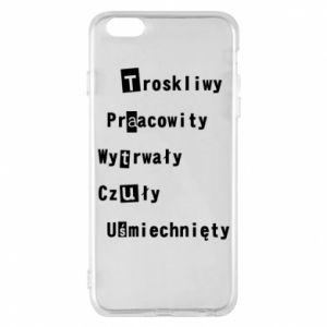 Etui na iPhone 6 Plus/6S Plus Troskliwy, Praacowity