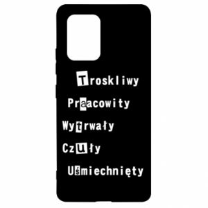 Etui na Samsung S10 Lite Troskliwy, Praacowity